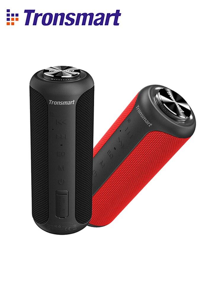 Tronsmart T6 Plus (Upgraded Edition) Bluetooth 5.0 Speaker 40W Portable TWS Speaker IPX6 Column with NFCTF CardUSB Flash Drive
